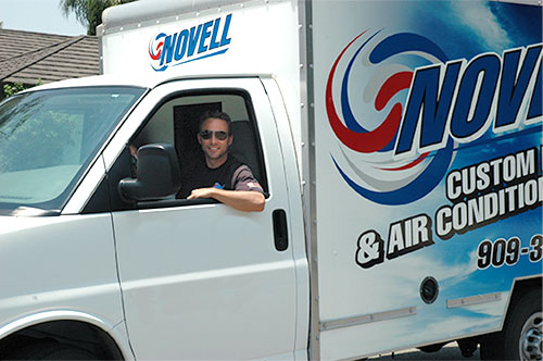 Owner Mike Novell in truck