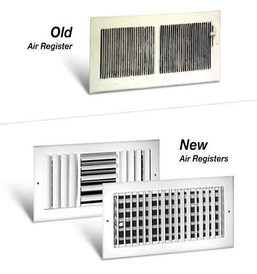 Old Vs. New Air Registers